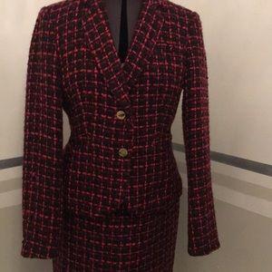 Calvin Kline suit woven suit pencil skirt size 6
